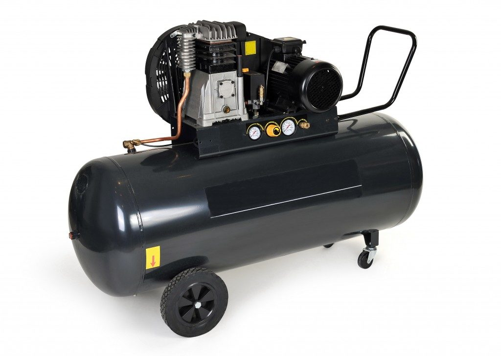 a black air compressor