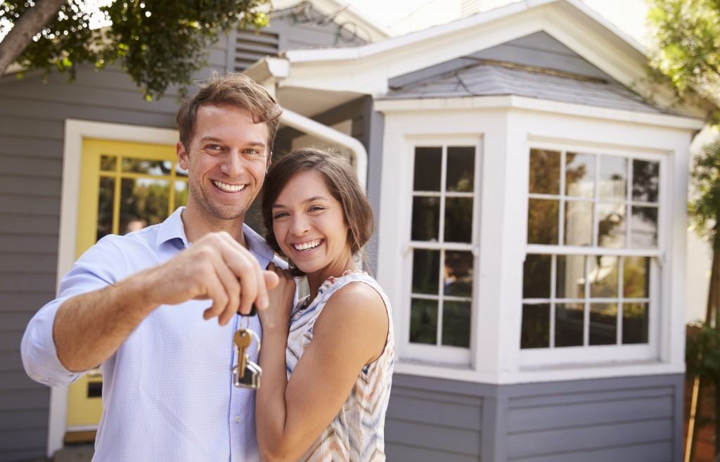 Couple who just bought a house