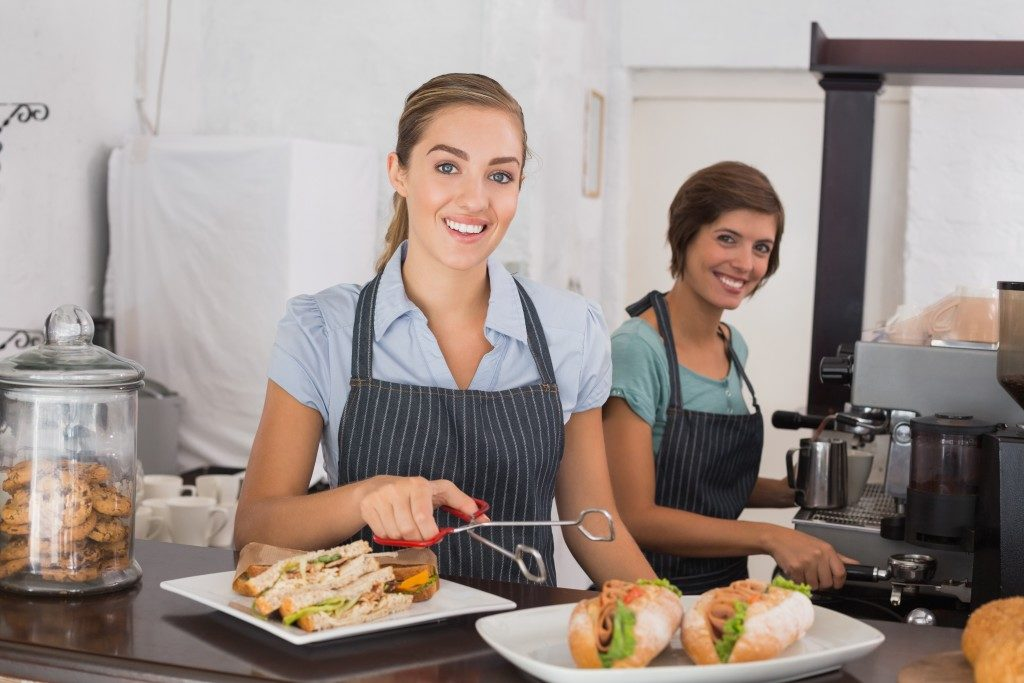 Restaurant Owners in their shop