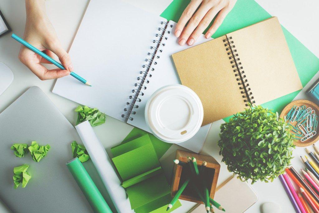 Office desk green