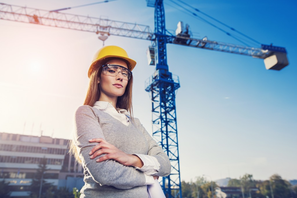 Female engineer on site