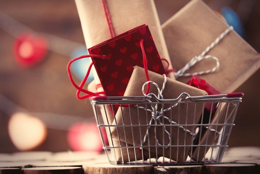 basket of christmas presents