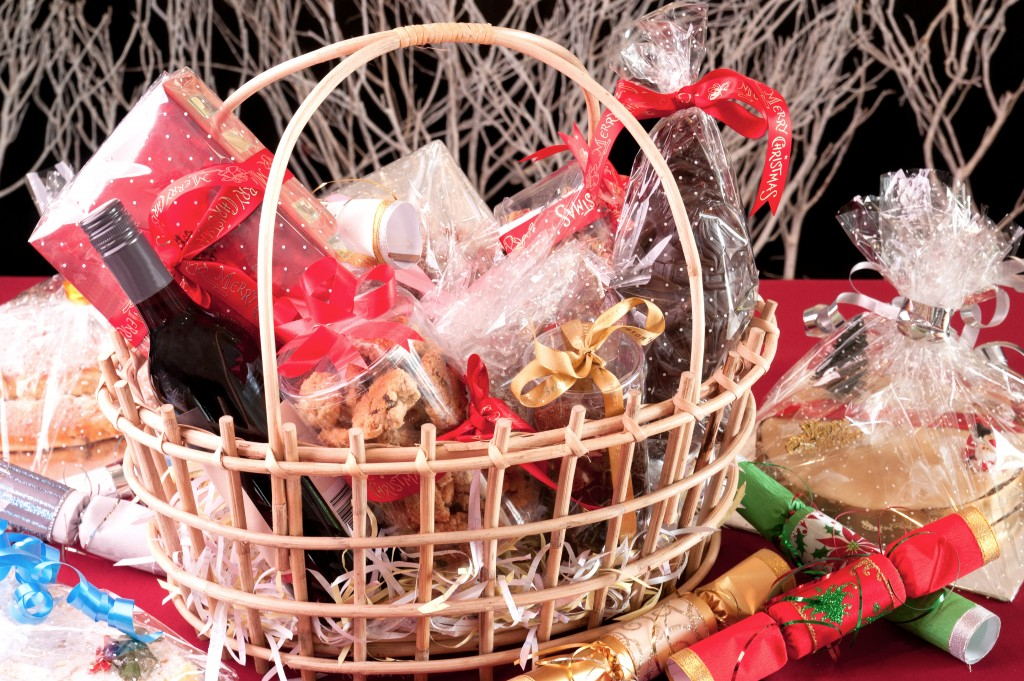 basket of christmas goods