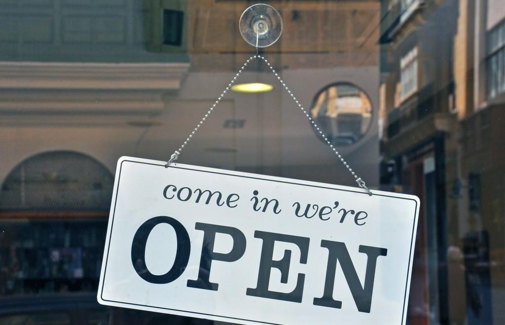 open retail store