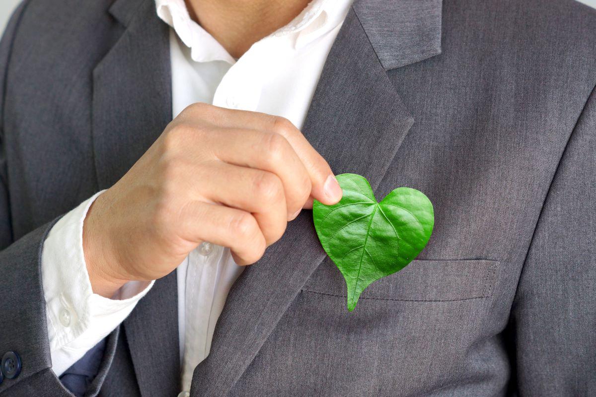 eco friendly heart shaped leaf